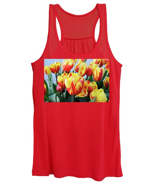 Tulips And Tiger Stripes Women's Tank Top