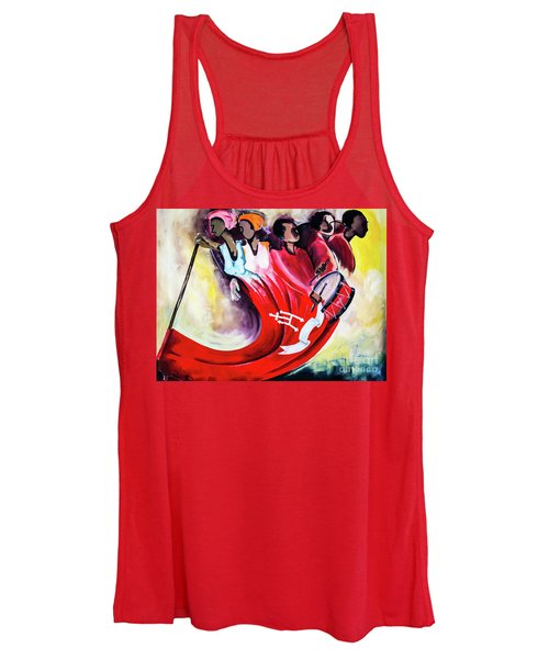 Wall Painting In Fogo, Cape Verde Women's Tank Top
