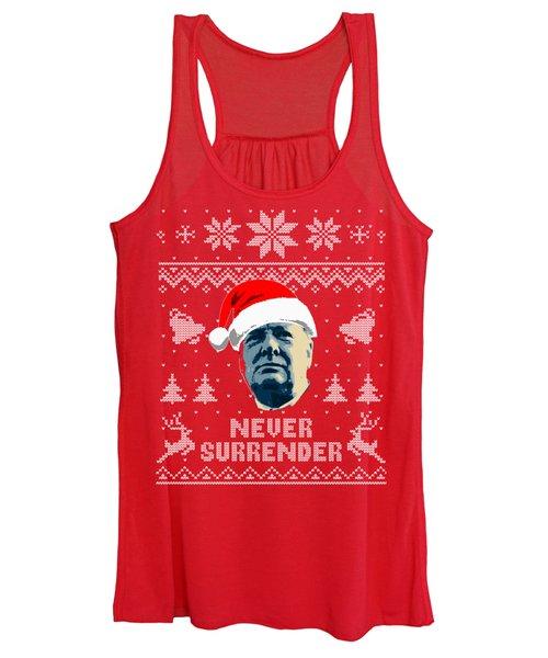 Winston Churchill Never Surrender Christmas Women's Tank Top