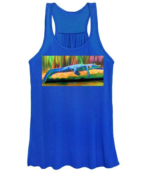 Blue Alligator Women's Tank Top