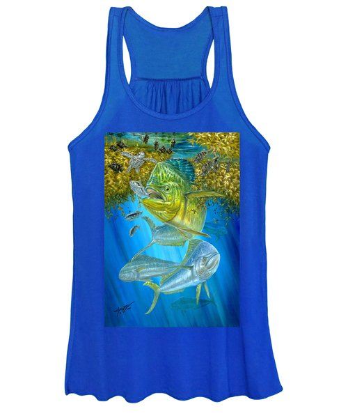 Mahi Mahi Hunting In Sargassum Women's Tank Top