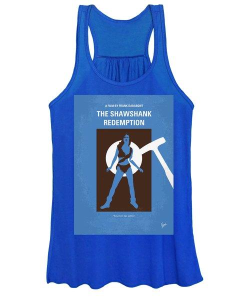 No246 My The Shawshank Redemption Minimal Movie Poster Women's Tank Top