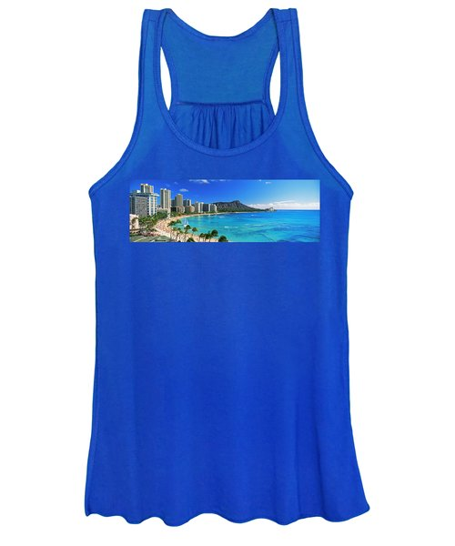 Palm Trees On The Beach, Diamond Head Women's Tank Top