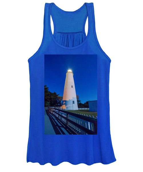 The Ocracoke Lighthouse On Ocracoke Island On The North Carolina Women's Tank Top