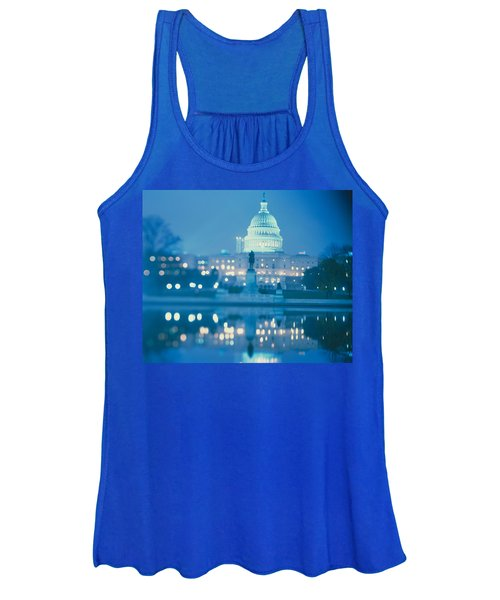 Government Building Lit Up At Night Women's Tank Top