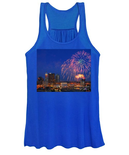 D21l-10 Red White And Boom Fireworks Display In Columbus Ohio Women's Tank Top