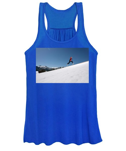A Man Runs Alone On A Late Winter Day Women's Tank Top