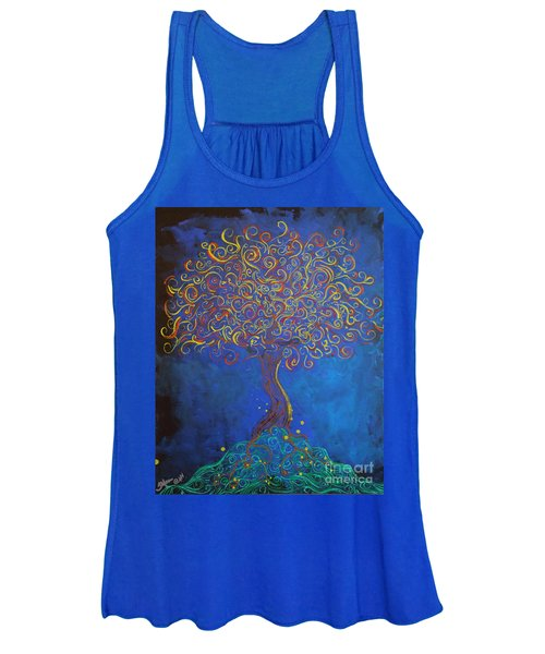 A Tree Of Orbs Glows Women's Tank Top