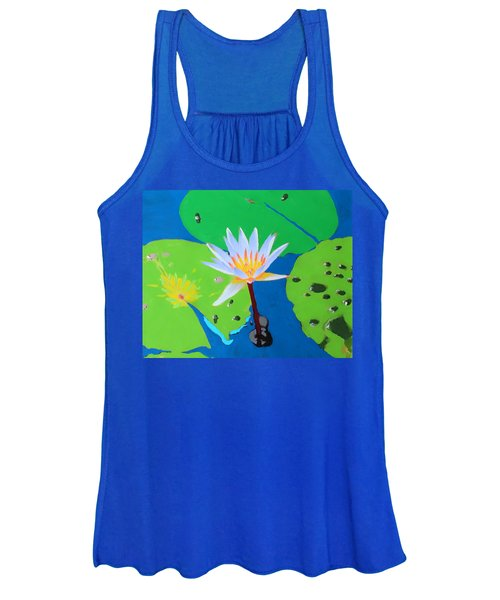 A Water Lily In Its Pad Women's Tank Top