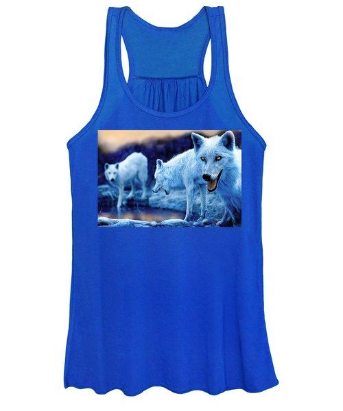 Arctic White Wolves Women's Tank Top