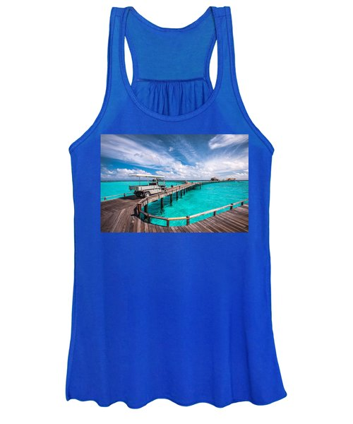 Baggy On The Jetty Over The Blue Lagoon Women's Tank Top