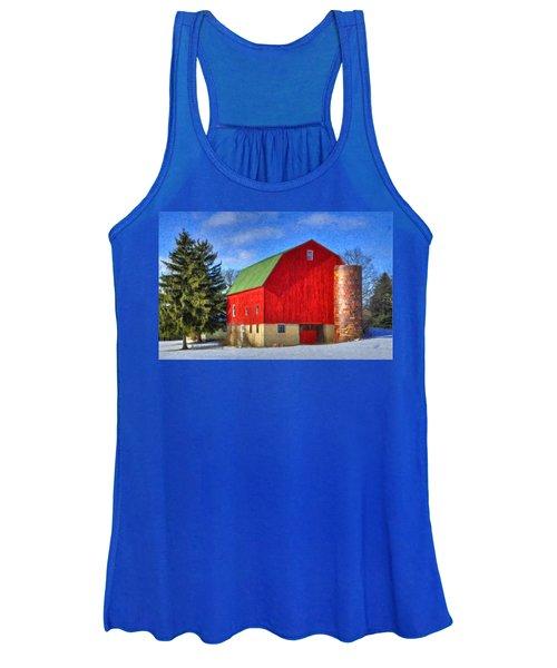 Barn In Winter Women's Tank Top