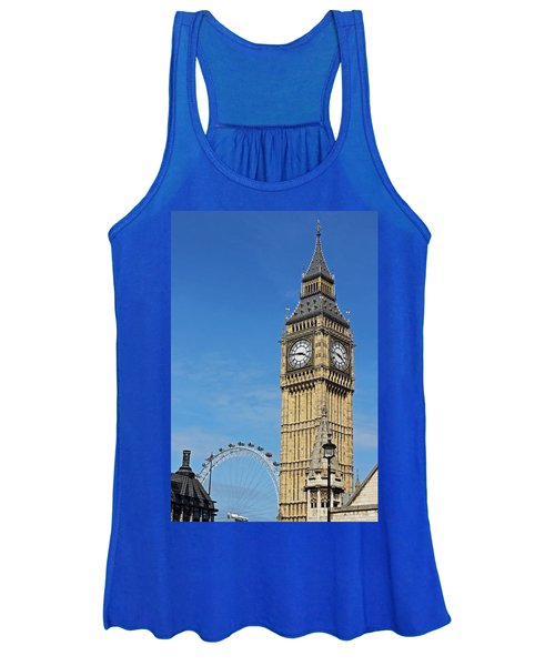 Big Ben And London Eye Women's Tank Top