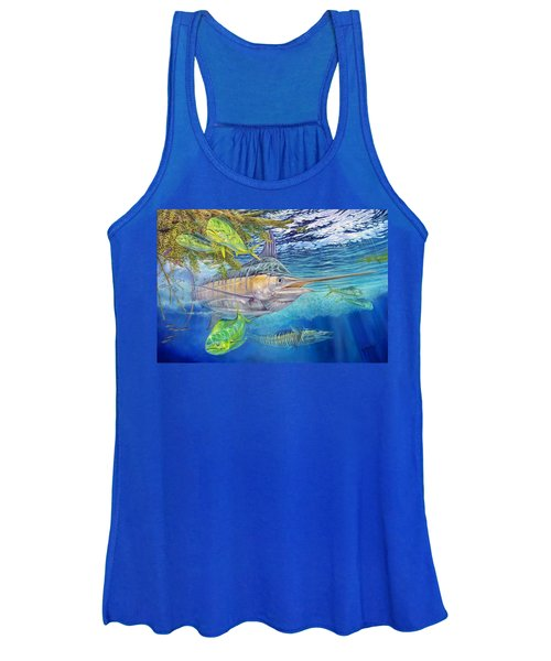 Big Blue Hunting In The Weeds Women's Tank Top
