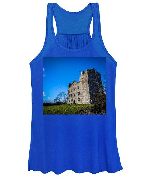 Women's Tank Top featuring the photograph Birds Of Ireland's Leamaneh Castle by James Truett