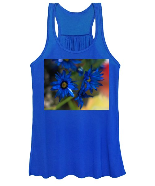 Blue Dyed Daisies  Women's Tank Top