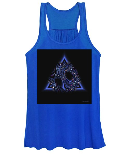 Blue Triangle Jewel Abstract Women's Tank Top