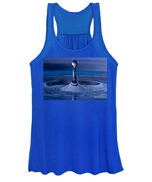 Blue Water Drop Women's Tank Top