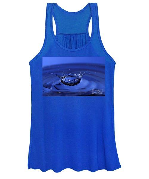 Blue Water Splash Women's Tank Top