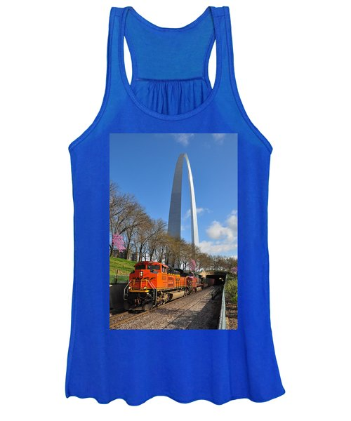 Bnsf Ore Train And St. Louis Gateway Arch Women's Tank Top