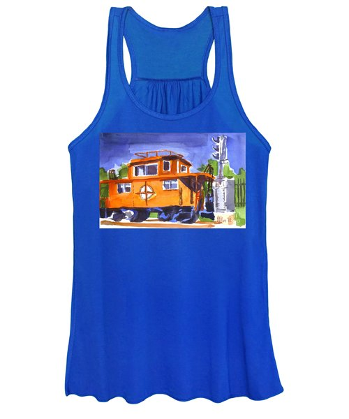 Caboose With Silver Signal Women's Tank Top