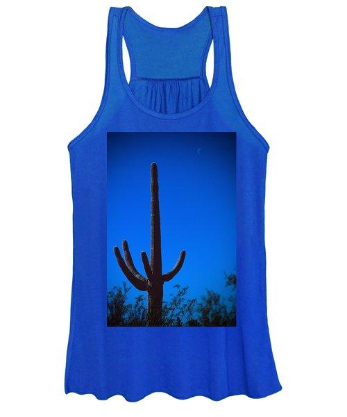 Cactus And Moon Women's Tank Top