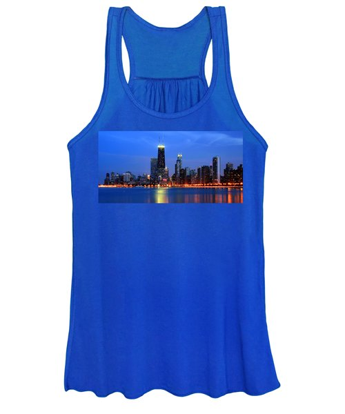 Chicago Dusk Skyline Hancock Women's Tank Top