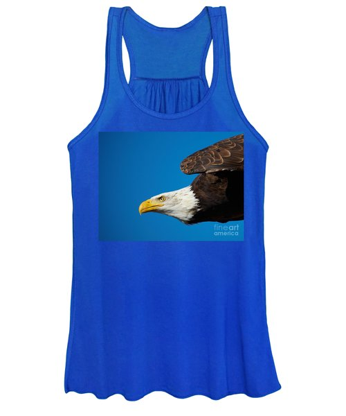 Close-up Of An American Bald Eagle In Flight Women's Tank Top