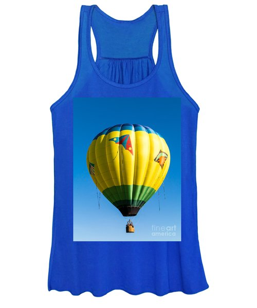 Colorful Hot Air Balloon Over Vermont Women's Tank Top