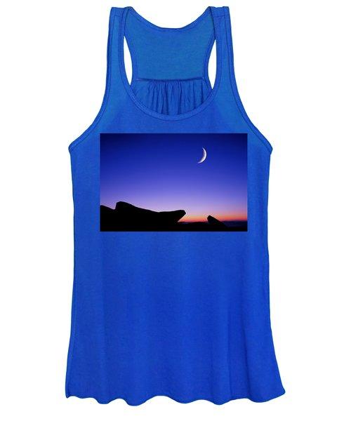 Crescent Moon Halibut Pt. Women's Tank Top