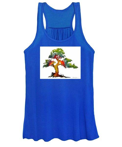 Da140 Rainbow Tree Daniel Adams Women's Tank Top