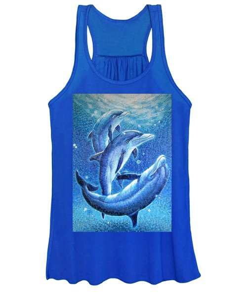 Dolphin Trio Women's Tank Top