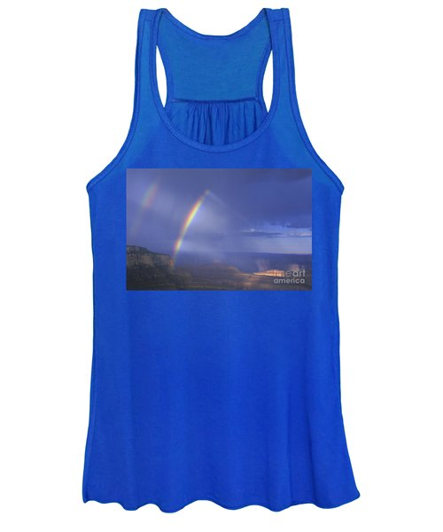 Double Rainbow At Cape Royal Grand Canyon National Park Women's Tank Top