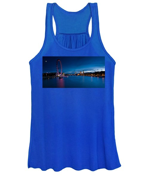 Ferris Wheel Lit Up At Dusk, Millennium Women's Tank Top