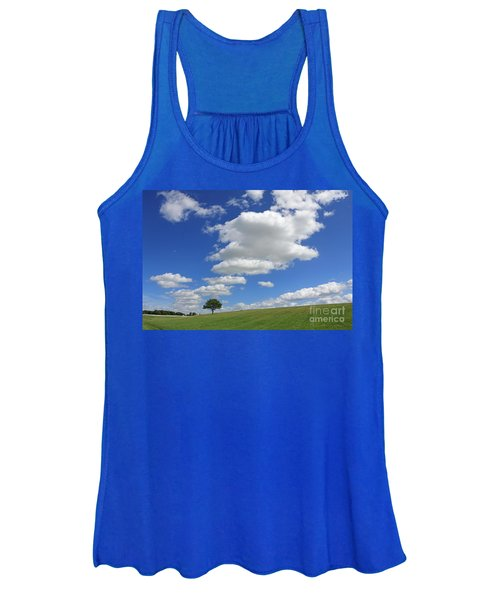 Fluffy Clouds Over Epsom Downs Surrey Women's Tank Top