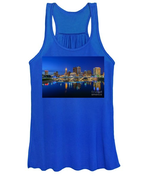 Fx2l530 Columbus Ohio Night Skyline Photo Women's Tank Top