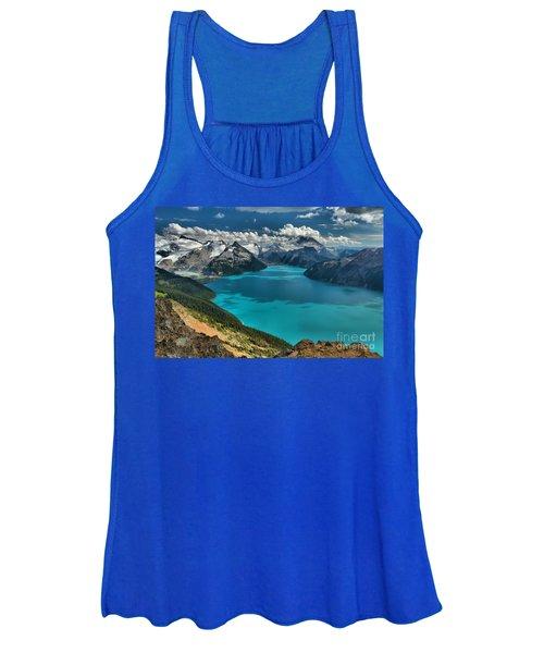 Garibaldi Lake Blues Greens And Mountains Women's Tank Top
