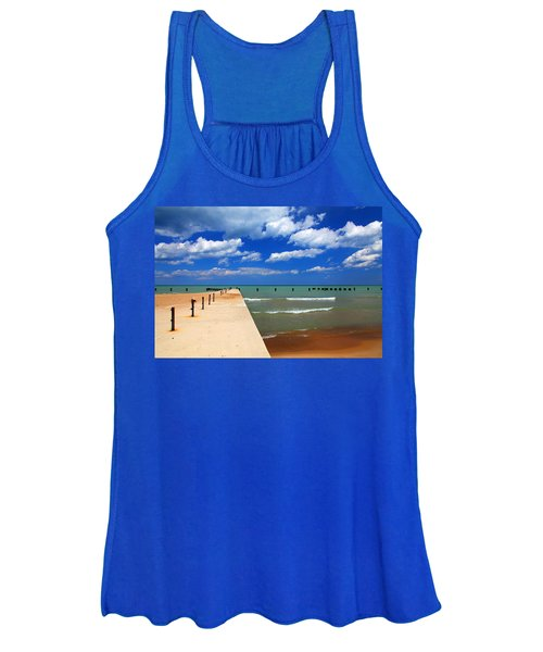 Great Lake Horizon Clouds Women's Tank Top