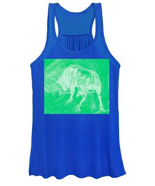 Green Bull Negative Women's Tank Top