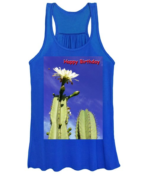 Happy Birthday Card And Print 18 Women's Tank Top