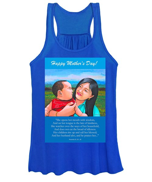 Happy Mom And Babe Women's Tank Top