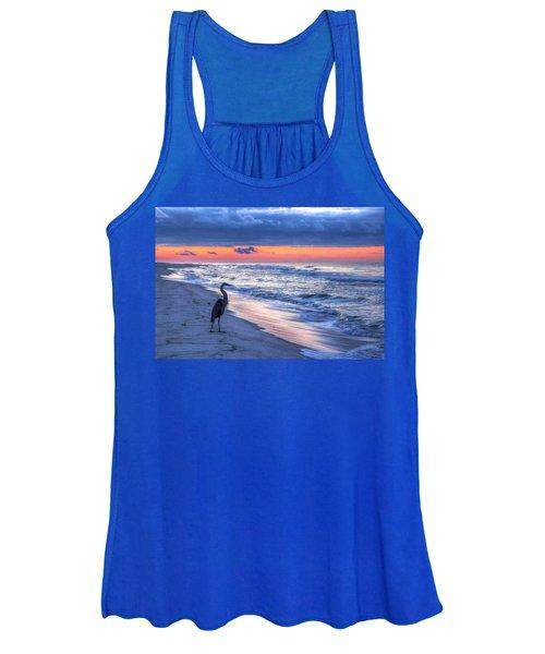 Heron On Mobile Beach Women's Tank Top
