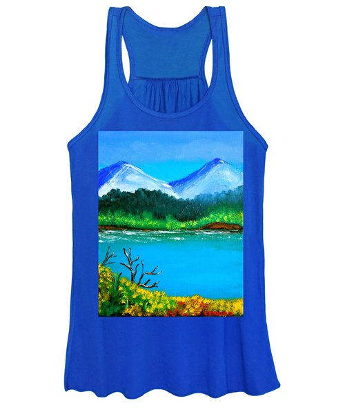 Hills By The Lake Women's Tank Top