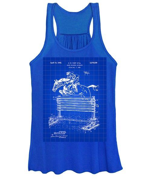 Horse Jump Patent 1939 - Blue Women's Tank Top