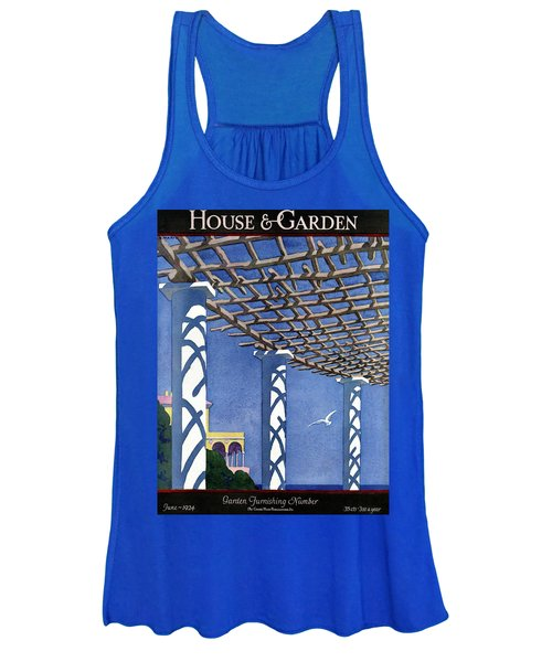 House And Garden Garden Furnishing Number Cover Women's Tank Top