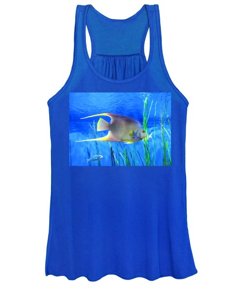 Into Blue - Tropical Fish By Sharon Cummings Women's Tank Top