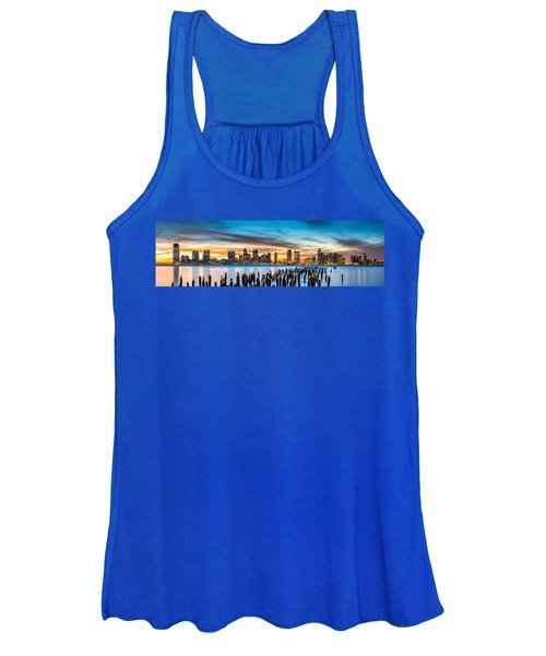 Jersey City Panorama At Sunset Women's Tank Top