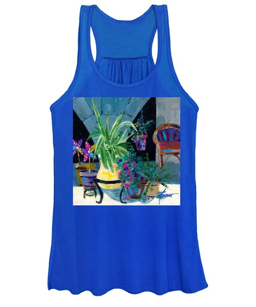 Library Courtyard-rhodes Old Town Women's Tank Top