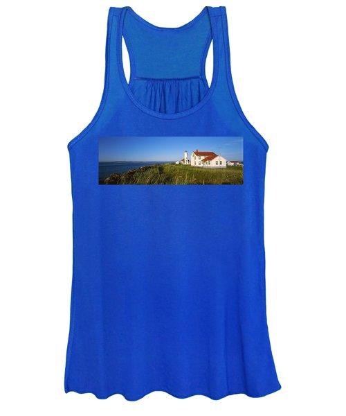 Lighthouse On A Landscape, Ft. Worden Women's Tank Top