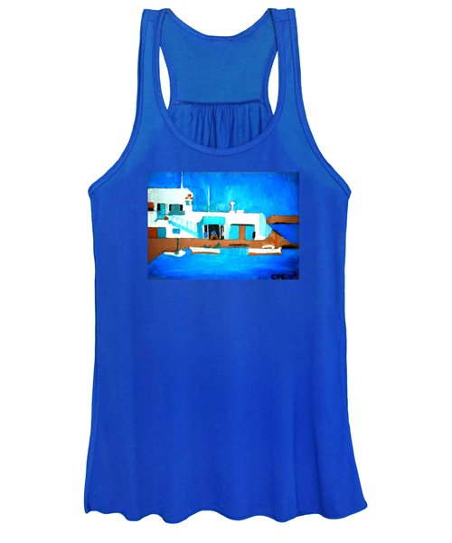 Paros  Cute Spot On Greek Island Women's Tank Top